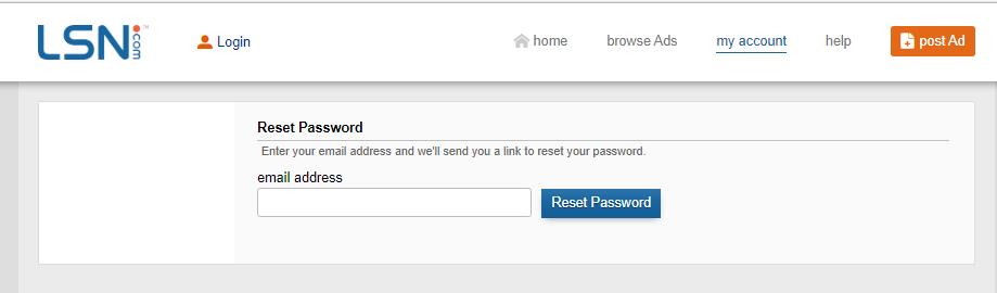 golsn reset password