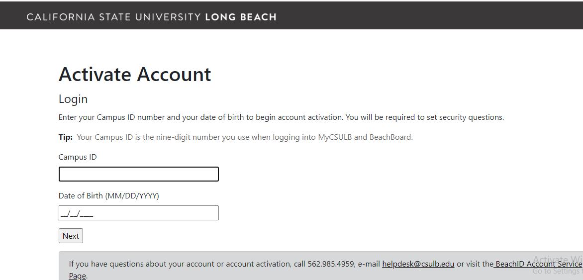 MyCSULB register
