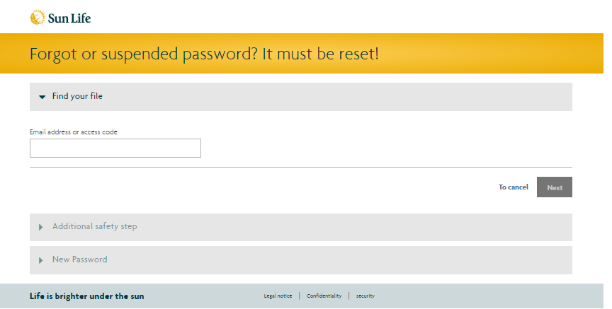 masunlife Forgot or suspended password