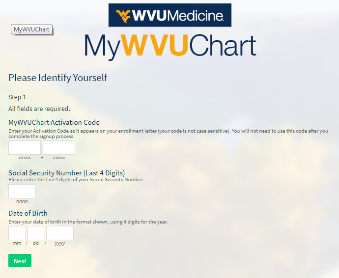How To Register/Sign Up For MyWVUChart