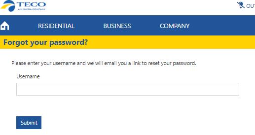teco Forgot your password