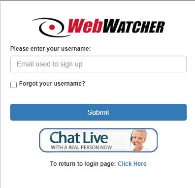 webwatcher forgot password