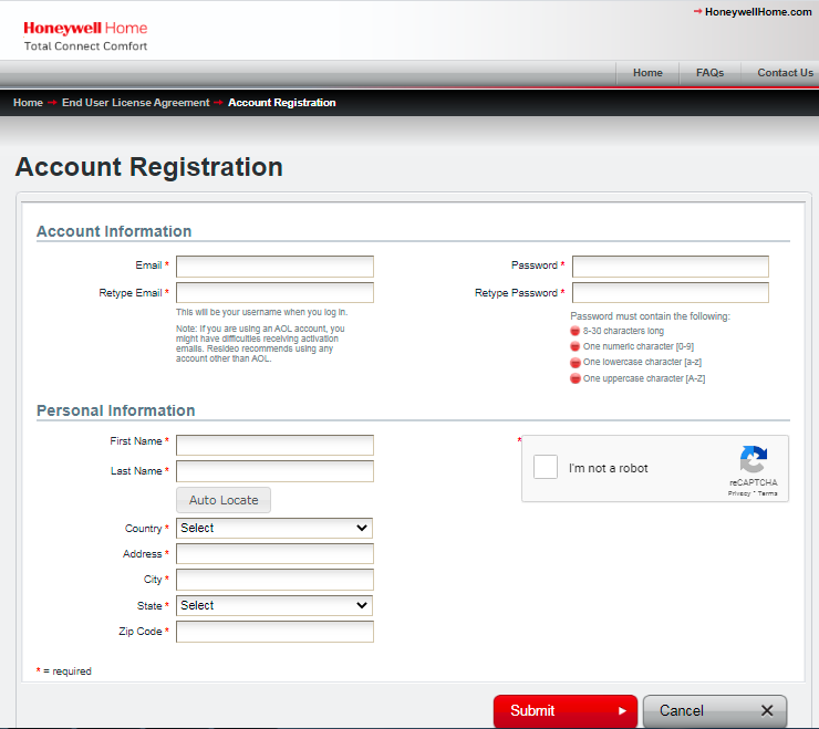 How To Create an Account For MyTotalConnectComfort