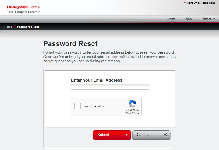 Forgot My Password, How To Reset Mytotalconnectcomfort Login Password?