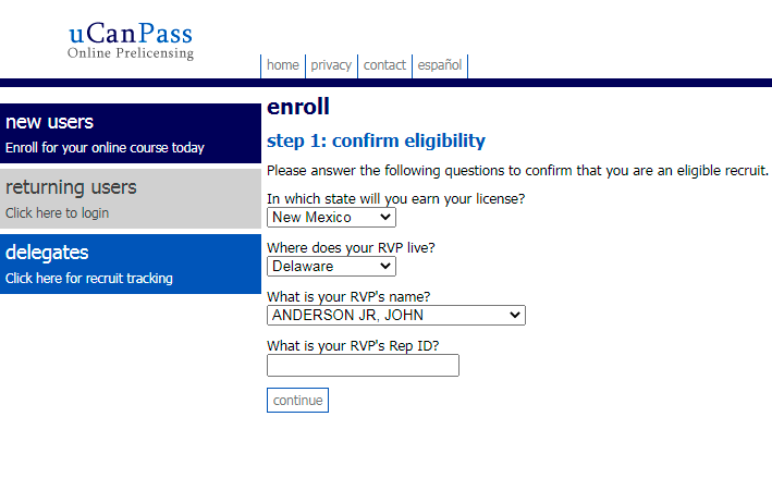 How To Enroll For uCanPass Online Prelicensing (New Users)
